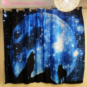 "NEW Art Curtains Divider Wolves Full Moon 102""x82"""